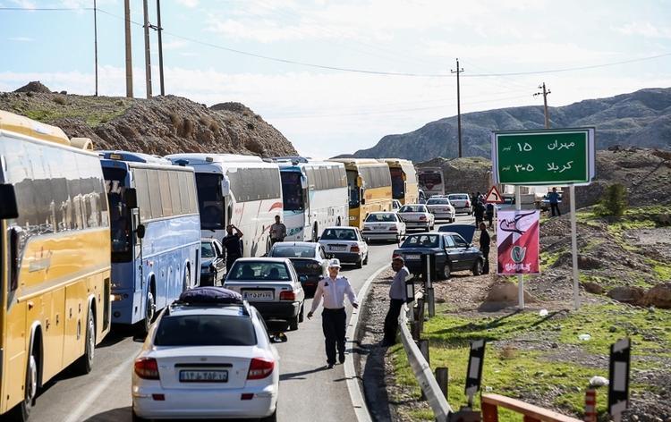 افزایش اتوبوس های حامل زائران اربعین به شهر های مرزی