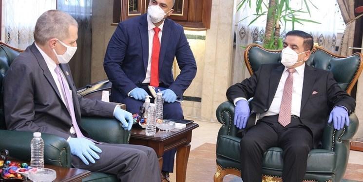 وزیر دفاع عراق با سفیر آمریکا درباره حمایت از نیروهای عراقی رایزنی کرد
